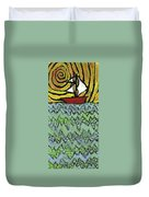 Afloat On The Bubbling Sea Duvet Cover by Wayne Potrafka