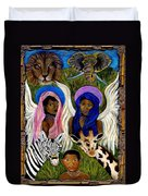 African Angels Duvet Cover by The Art With A Heart By Charlotte Phillips