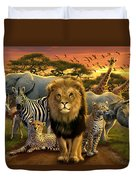 African Beasts Duvet Cover by Andrew Farley