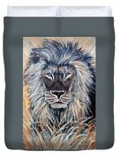African Lion Duvet Cover by Nick Gustafson
