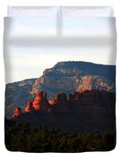 After Sunset In Sedona Duvet Cover by Susanne Van Hulst