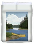 After The Rapids Duvet Cover by Kenneth M  Kirsch