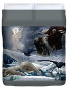 Ahasuerus At The End Of The World Duvet Cover by Adolph Hiremy Hirschl