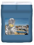 Airman Waits To Process Duvet Cover by Stocktrek Images