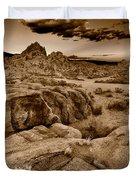 Alabama Hills California B W Duvet Cover by Steve Gadomski