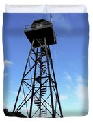 Alcatraz Guard Tower - San Francisco Duvet Cover by Daniel Hagerman