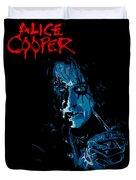 Alice Cooper Duvet Cover by Caio Caldas