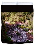 Altered States At The Park Duvet Cover by David Lane