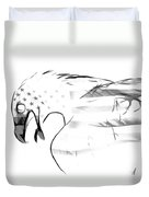 American Eagle Black And White Duvet Cover by Melanie Viola