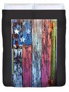 American Flag Gate Duvet Cover by Garry Gay