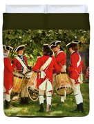 Americana - People - Preparing For Battle Duvet Cover by Mike Savad