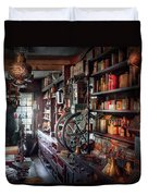 Americana - Store - Corner Grocer  Duvet Cover by Mike Savad
