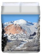 America's Mountain Duvet Cover by Eric Glaser