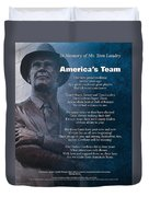 America's Team Poetry Art Duvet Cover by Stanley Mathis