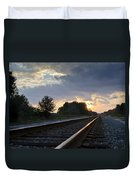 Amtrak Railroad System Duvet Cover by Carolyn Marshall