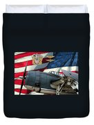 An American Tbf Avenger Pof Duvet Cover by Tommy Anderson