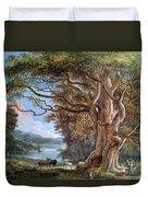 An Ancient Beech Tree Duvet Cover by Paul Sandby
