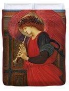 An Angel Playing A Flageolet Duvet Cover by Sir Edward Burne-Jones