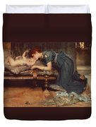 An Earthly Paradise Duvet Cover by Sir Lawrence Alma-Tadema
