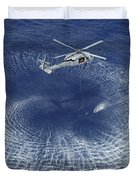 An Mh-60s Knight Hawk Prepares Duvet Cover by Stocktrek Images