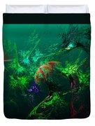 An Octopus's Garden Duvet Cover by David Lane