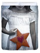 angel with a star Duvet Cover by Joana Kruse