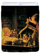 Angels of Christmas Duvet Cover by Greg Olsen