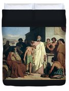 Annointing Of David By Saul Duvet Cover by Felix-Joseph Barrias