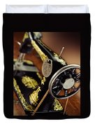 Antique Singer Sewing Machine 3 Duvet Cover by Kelley King