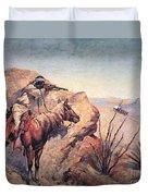 Apache Ambush Duvet Cover by Frederic Remington