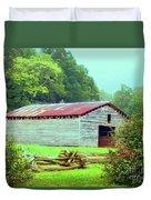 Appalachian Livestock Barn Duvet Cover by Desiree Paquette