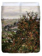 Apple Trees near Vetheuil Duvet Cover by Claude Monet