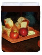 Apples And Bread Duvet Cover by Susan Savad