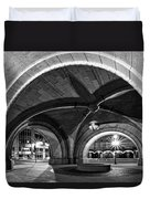 Arched In Black And White Duvet Cover by CJ Schmit