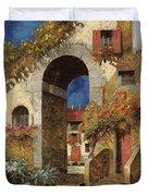 Arco Al Buio Duvet Cover by Guido Borelli