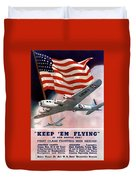 Army Air Corps Recruiting Poster Duvet Cover by War Is Hell Store