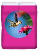 Art Of Hummingbird Flight Duvet Cover by Christina Rollo
