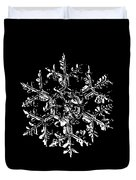 Snowflake Vector - Gardener's Dream Black Version Duvet Cover by Alexey Kljatov