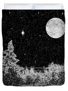 Winter's Night Duvet Cover by Methune Hively