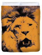 Lion Pop Art Duvet Cover by Angela Doelling AD DESIGN Photo and PhotoArt