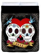 Love Skulls II Duvet Cover by Tammy Wetzel
