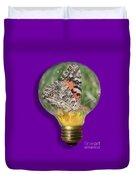 Butterfly In Lightbulb Duvet Cover by Shane Bechler