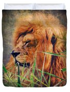 A Lion Portrait Duvet Cover by Angela Doelling AD DESIGN Photo and PhotoArt