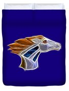 Glowing Bronco Duvet Cover by Shane Bechler