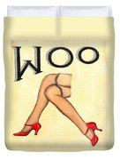 Woo Duvet Cover by Ethna Gillespie