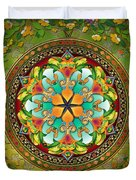 Mandala Evergreen Duvet Cover by Bedros Awak