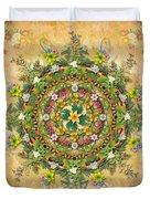 Mandala Flora Duvet Cover by Bedros Awak