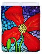 Lady In Red - Poppy Flower Art by Sharon Cummings Duvet Cover by Sharon Cummings