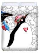 Cold Feet Warm Hearts Duvet Cover by Eloise Schneider