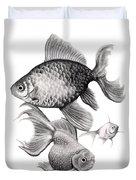 Goldfish Duvet Cover by Sarah Batalka